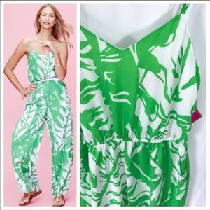 NWT Lilly Pulitzer Target green white jumpsuit